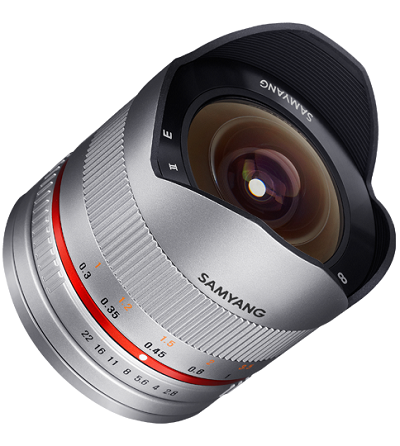 Samyang 8mm f/2.8 UMC Fish-eye II Samsung NX Silver