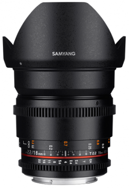 Samyang 16mm T2.2 ED AS UMC CS VDSLR MFT II- фото