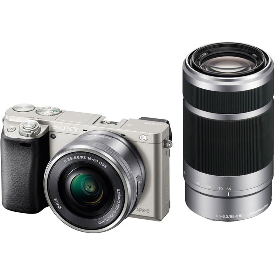 Sony Alpha A6000 Double Kit 16-50mm + 55-210mm (ILCE-6000YS) Silver