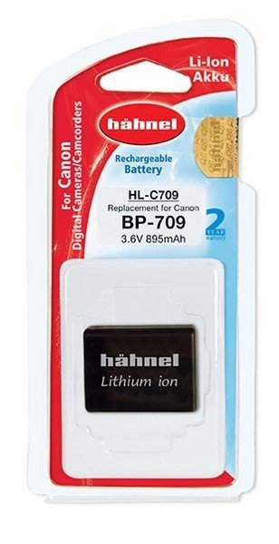 Аккумулятор Hahnel HL-C709 for Canon BP-709 895mAh