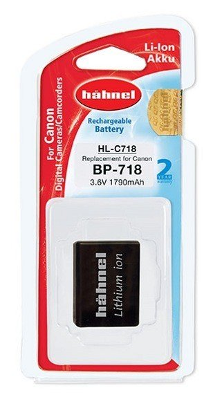 Аккумулятор Hahnel HL-C718 for Canon BP-718 1790mAh