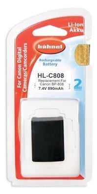 Аккумулятор Hahnel HL-C808 for Canon BP-808 890mAh