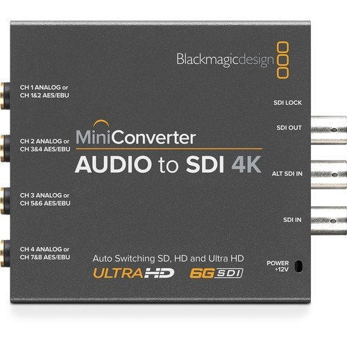 Мини конвертер Blackmagic Mini Converter Audio to SDI 4K- фото