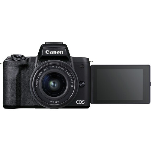 Canon EOS M50 Mark II Kit 15-45mm + 55-200mm Black - фото6
