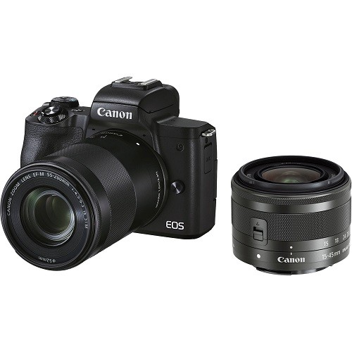 Canon EOS M50 Mark II Kit 15-45mm + 55-200mm Black - фото2