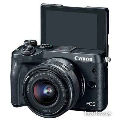 Canon EOS M6 Mark II Kit 15-45mm + EVF-DC2 Black- фото3