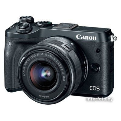 Canon EOS M6 Mark II Kit 15-45mm + EVF-DC2 Black- фото2
