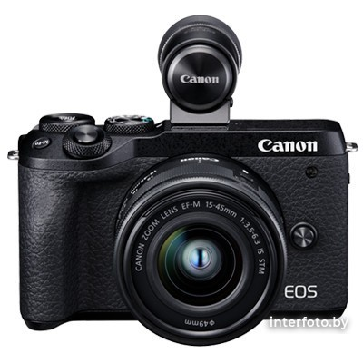 Canon EOS M6 Mark II Kit 15-45mm + EVF-DC2 Black- фото6