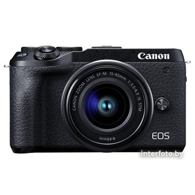 Canon EOS M6 Mark II Kit 15-45mm + EVF-DC2 Black- фото