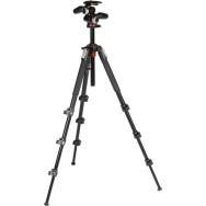 Штатив Manfrotto 190XPRO, 4 секции + MHXPRO-3W (MK190XPRO4-3W)- фото4