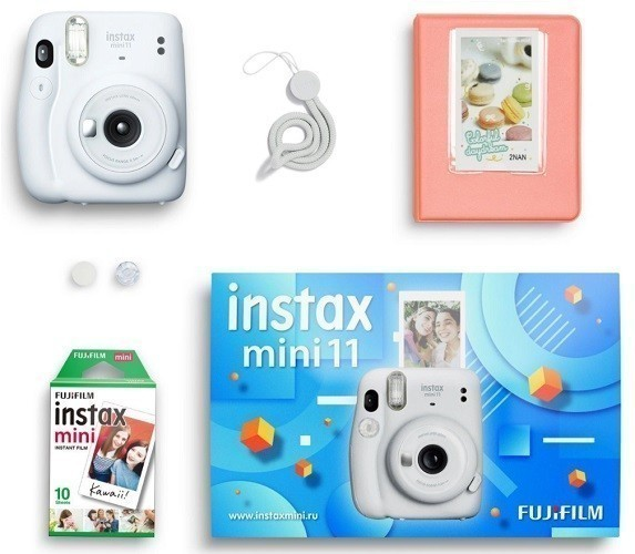 Подарочный набор Instax Mini 11 White Geometric Set- фото2