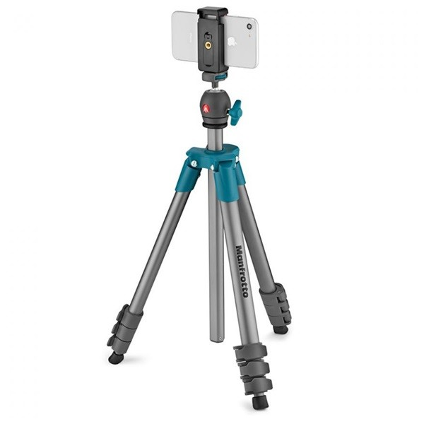 Штатив Manfrotto Compact Light Smart (MKSCOMPACTLTBL), Blue