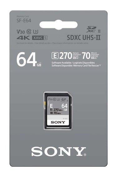 Карта памяти Sony 64Gb SF-E Series (SF-E64)- фото2